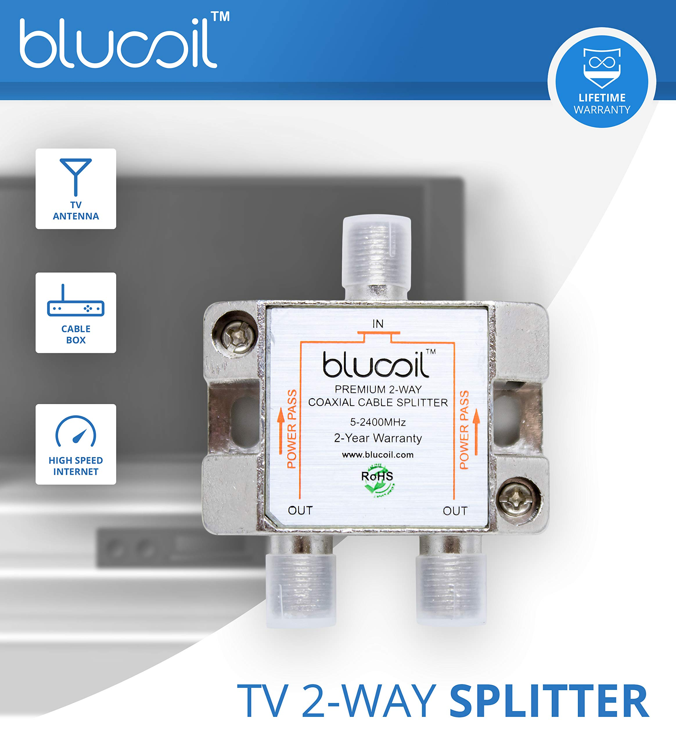 SiliconDust HDHomeRun Connect Duo HDHR5-2US Tuner (Renewed) Bundle with Blucoil 2-Way TV Coaxial Cable Splitter and 5-Pack of Reusable Cable Ties by blucoil (Image #6)