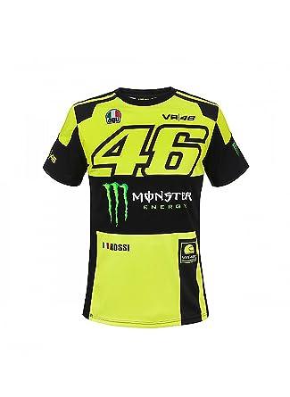 Vr46 Original Valentino Rossi T Shirt Replik Monza Monster Gelb