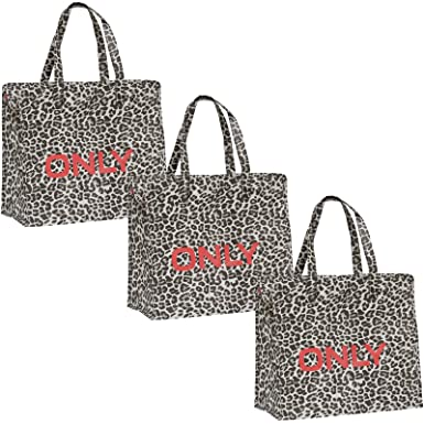 ONLY Tasche 3er Pack Shopping Bag Umhänge Shopper Einkaufs