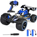 RC Car, NQD 2020 Updated 1/16 Scale High Speed Remote Control Car, 2.4Ghz Off Road RC Trucks with Two Rechargeable Batteries, Electric Toy Car for Toy Gifts for 2, 3, 4, 5, 6, 7, 8 Year Old Boy