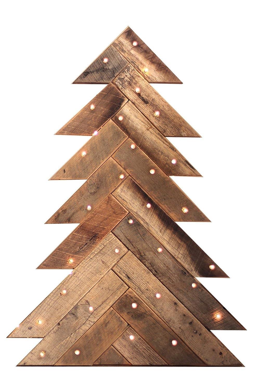 Amazon Com Barn Wood Christmas Tree Herringbone Pattern Handmade