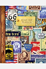 "Road Trip Planner: Vacation Planner & Travel Journal / Diary for 4 Trips, with Checklists, Itinerary & more [ Softback * Large (8"" x 10"") * American Roadtrip ] (Travel Gifts) Paperback"