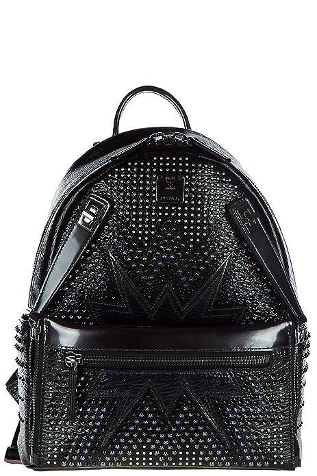 MCM mochila bolso de mujer en piel nuevo stark cyber negro: Amazon.es: Zapatos y complementos