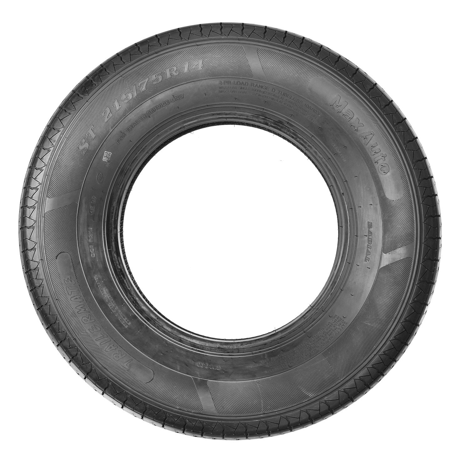 ST215/75R14 Load Range D MaxAuto Radial Trailer Tires ST215/75R-14 8Ply(Pack of 4) by MaxAuto (Image #6)