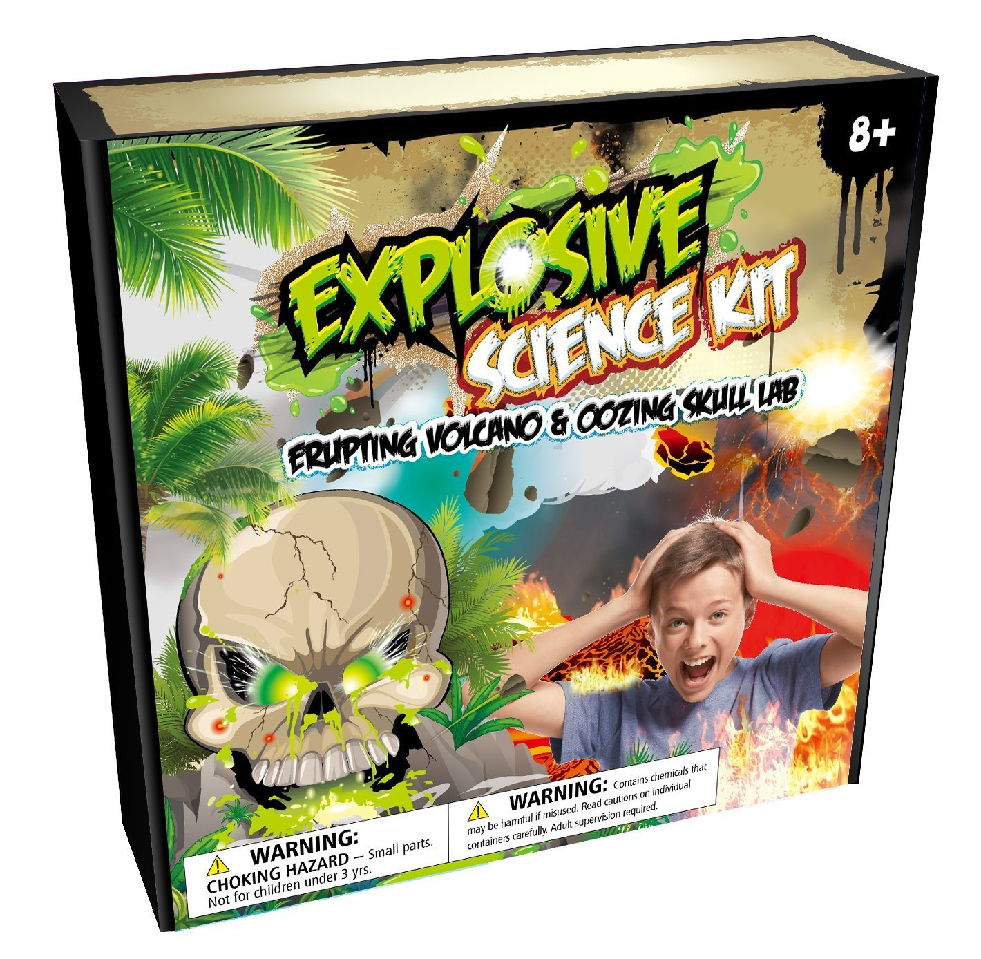 MMP Living Explosive Science Kit: Erupting Volcano & Slime Skull Lab - Everything Included for Multiple Experiments