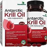 Futurebiotics Antarctic Krill Oil with Omega-3s EPA, DHA, Astaxanthin and Phospholipids - 100% Pure Premium Krill Oil…