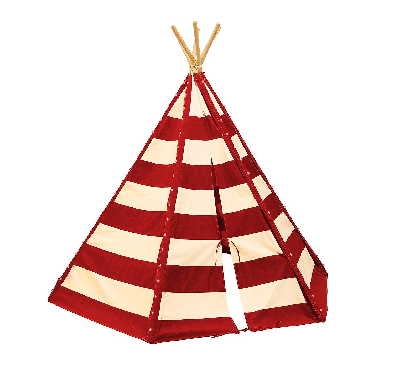 Sunny Tipi Tent lumo Red, Color Rojo, Blanco, 185 x 158 x 184 cm (C052.103.02)