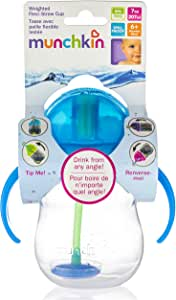 Munchkin Click Lock Weighted Flexi-Straw Cup, 7oz, 1 (colors may vary)