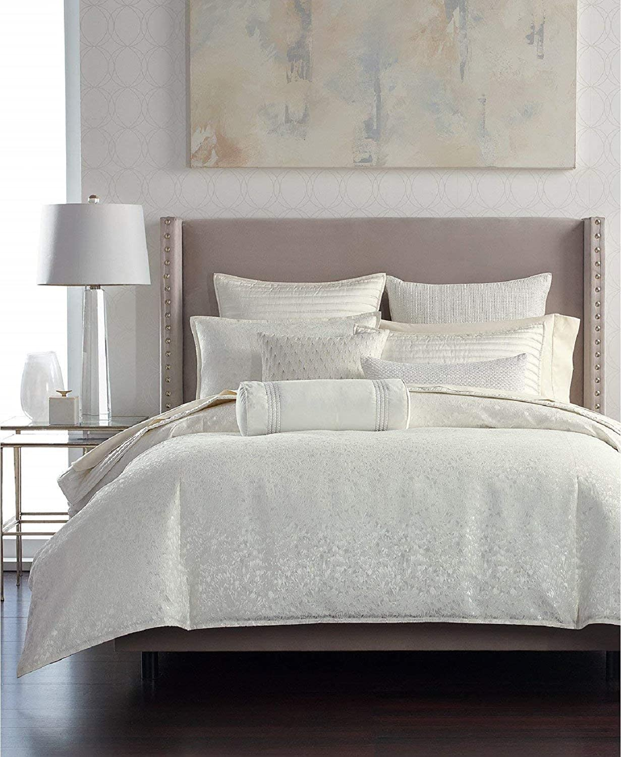 Hotel Collection Plume Cotton Full Queen Comforter White