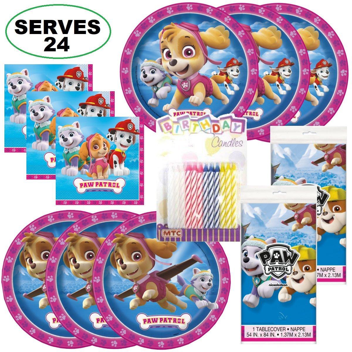 Paw Patrol Girl Super Bundle Party Supplies, Serves 24 Guests