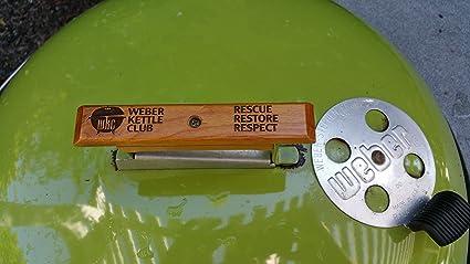 Amazoncom Weber Handle Wkc Wooden Replacement Handle For Weber