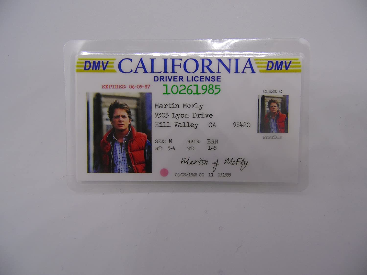 Marty McFly Novelty ID Back to the Future replica prop