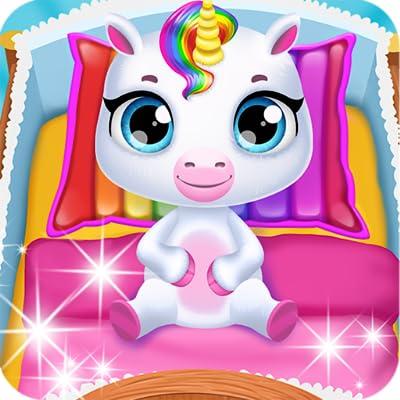 Unicornio mágico recién nacido