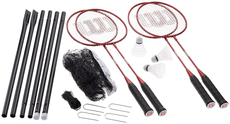 amazon com wilson badminton tour kit badminton sets sports