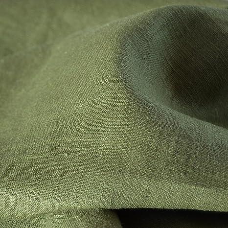 Amazon.com: 100% tela de lino. – Textiles français Olive ...