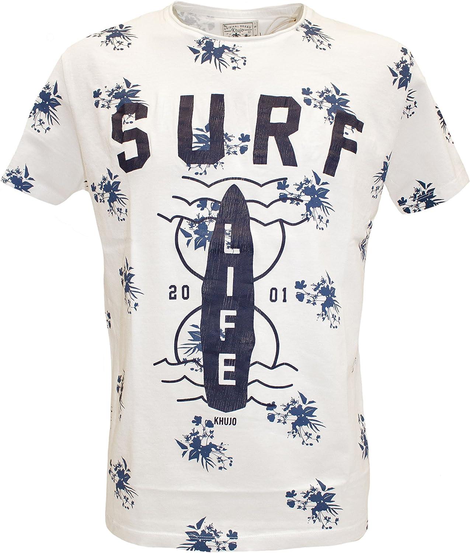 Khujo Trottem Printed Jersey Short Camiseta para Hombre
