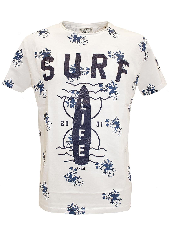 Khujo Trottem Printed Jersey Short, Camiseta para Hombre