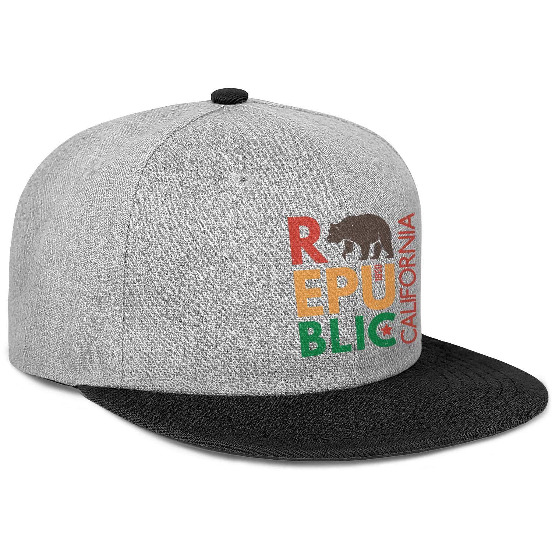 Mens Womens Dad Hats California Bear Republic 1850 Snapback Fits Cap
