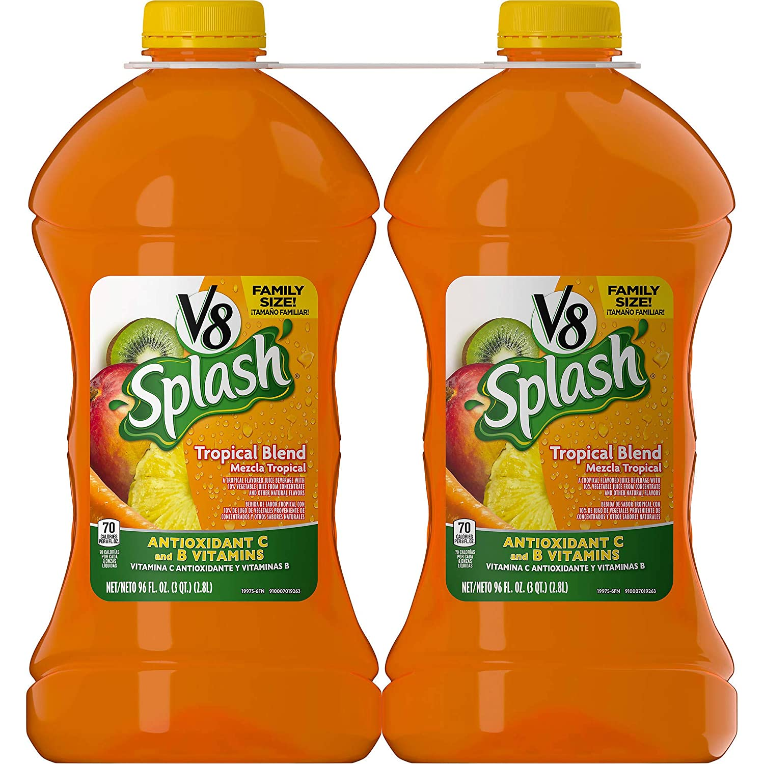 Amazon.com : V8 Expect More Splash Tropical Blend, 4 pk./96 oz. : Grocery & Gourmet Food