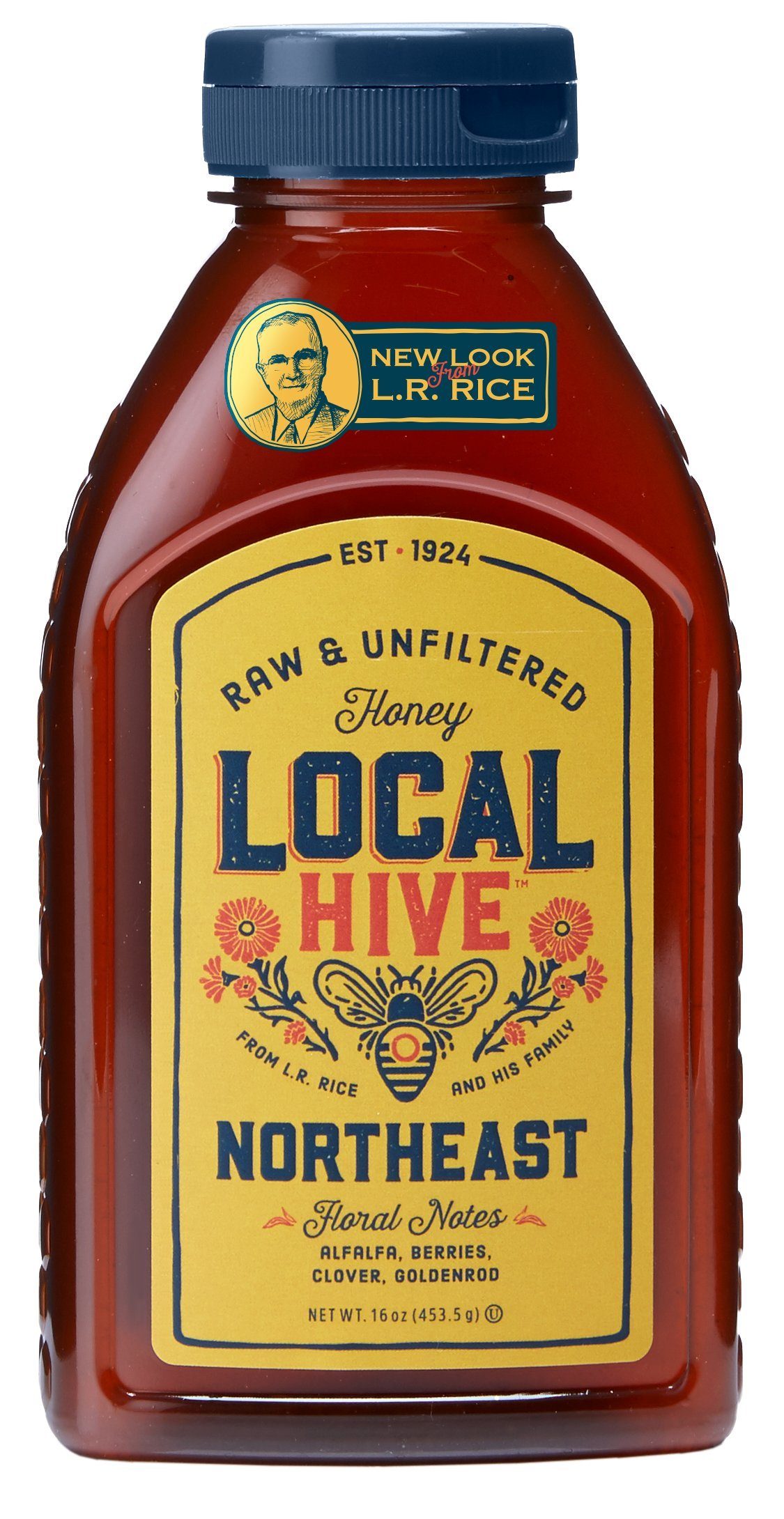 L.R. Rice 100% Pure Honey Raw & Unfiltered, Local Northeast, 16oz by Rice`s Honey, LLC
