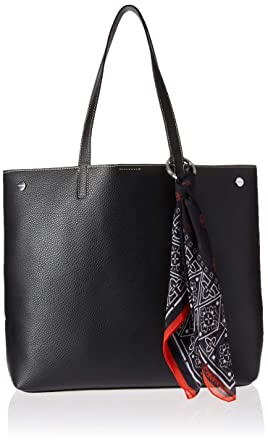 b1352956527 Amazon.com: Calvin Klein Rachel Vegan Leather Novelty Tote, Black/Silver:  Clothing