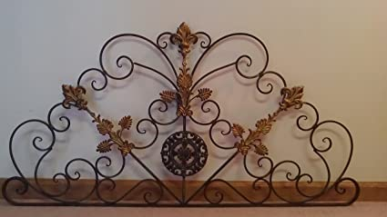 Long Wall Decor   Wrought Iron Door Toppers   Metal Wall Hangings