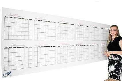 Amazon Com Dry Erase Calendar For Wall Blank 36 X96 Dry Erase