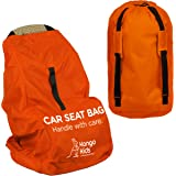 Car Seat Travel Bag -Make Travel Easier & Save Money. Gate Check Bag for Air Travel - Protect your Child's CarSeat & Stroller from Germs & Damage.Durable, Easy to Carry Padded Backpack