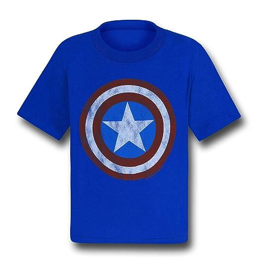 2135d9bef Amazon.com: Captain America Shield Symbol Kids T-Shirt- Juvenile 5 ...