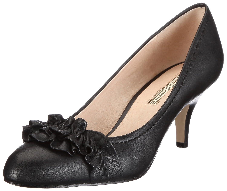 Schwarz(schwarz 01) Buffalo London Damen 107-1079-4 Kid Leather Pumps