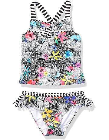 7c6fed8dd00b5 Jessica Simpson Girls' Two-Piece Tankini Swimsuit Set