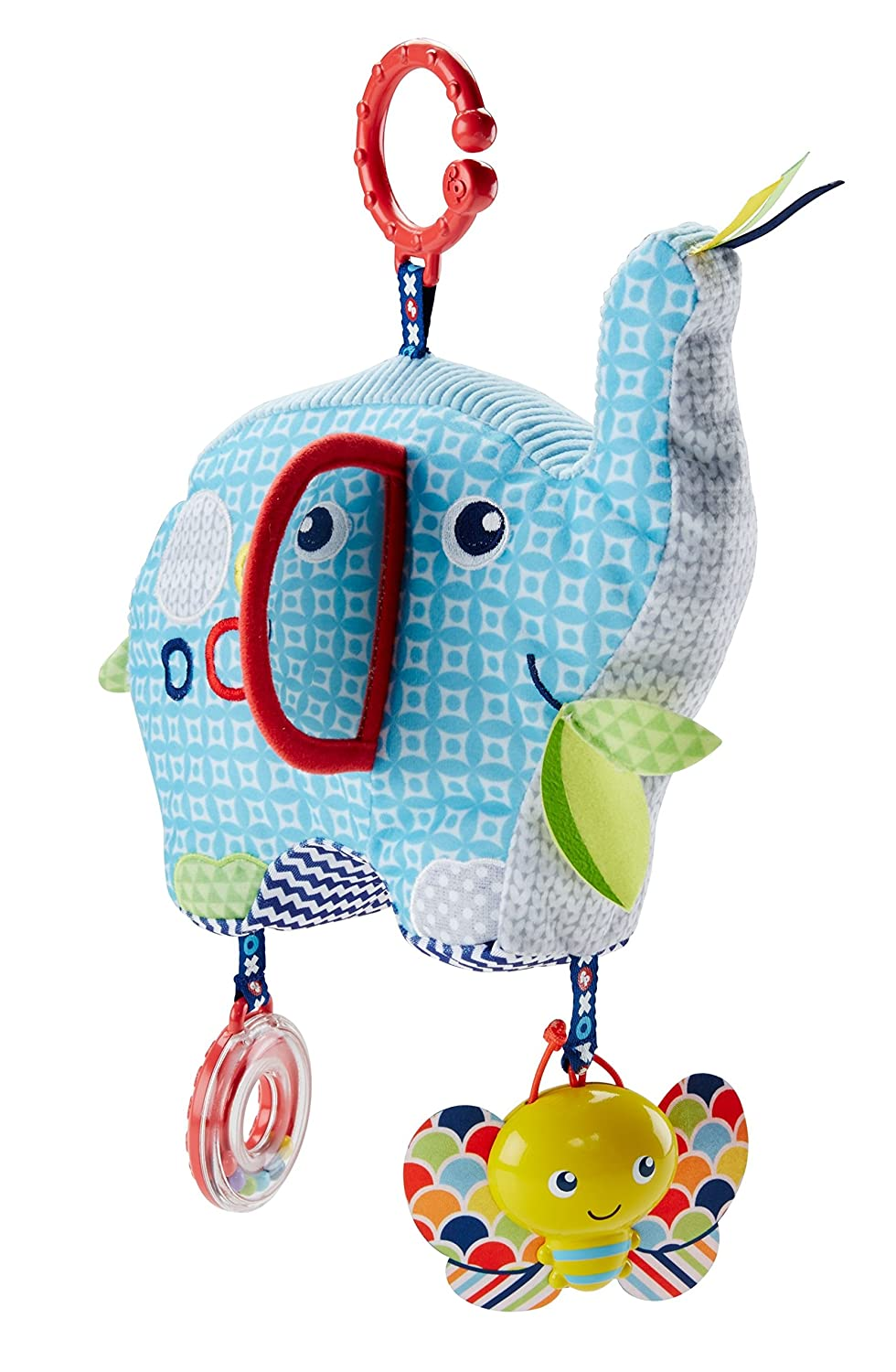 Fisher-Price Elefante Activity, Juguete Colgante para bebé (Mattel DYF88)