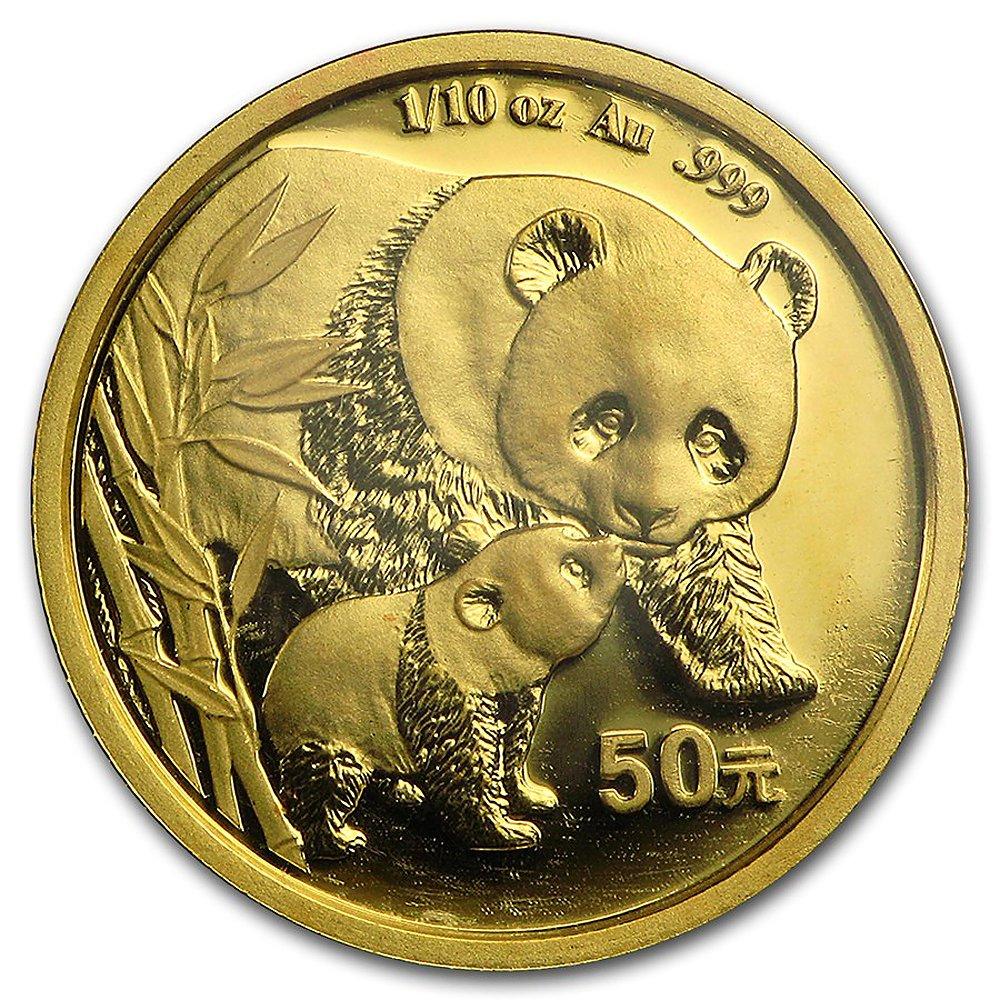 14k Gold 1/10 Gold Panda Bezel Diamond Cut 18mm coin Screw Top by Sabrina Silver (Image #4)