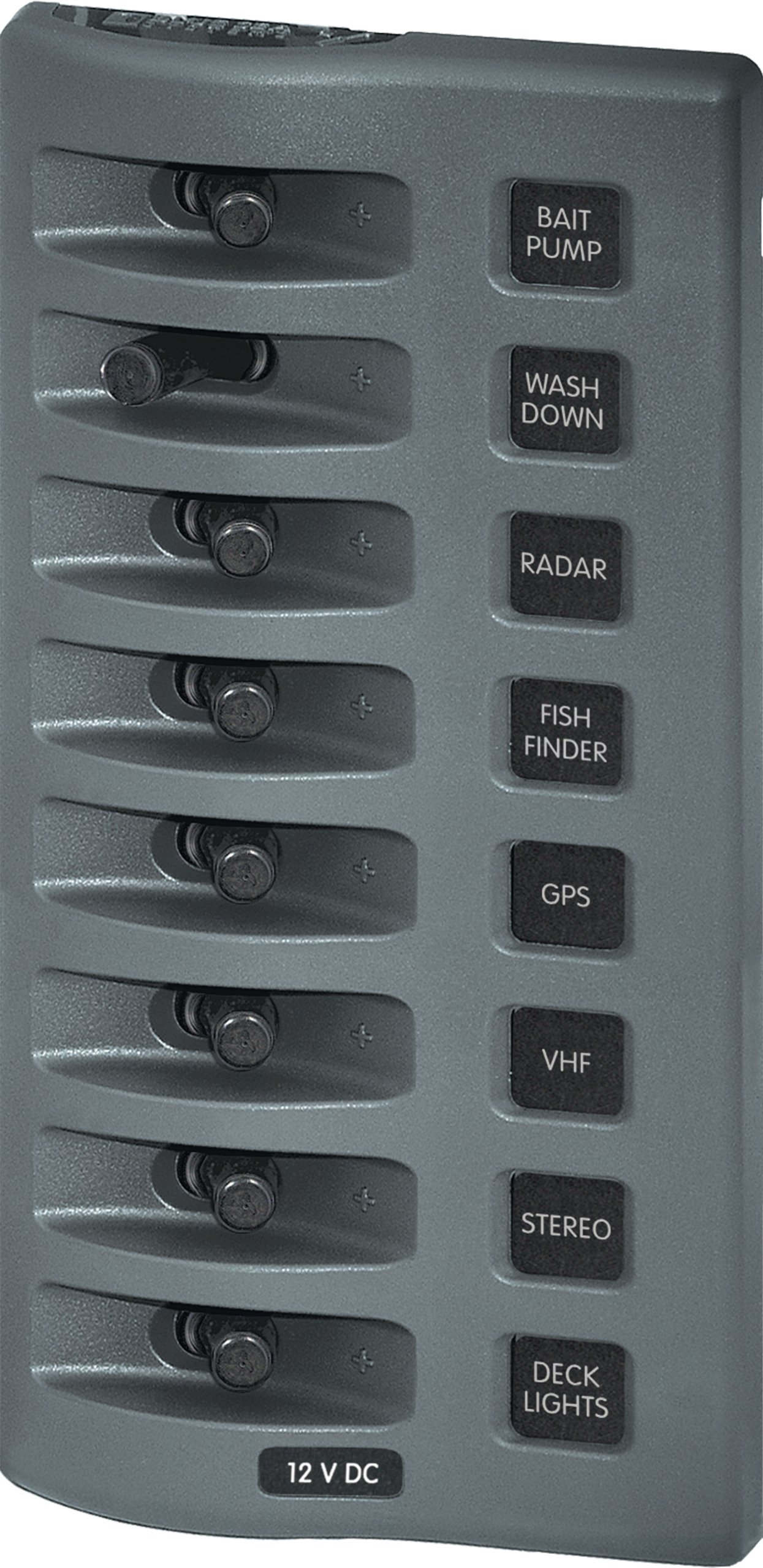 Blue Sea Systems WeatherDeck 12V DC Waterproof 8-Position Switch Panel by Blue Sea Systems (Image #1)