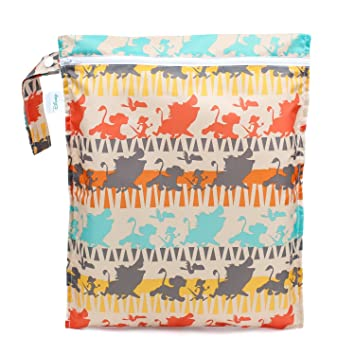 Soft Reusable Cloth Waterproof Multi-Function Minky Colorful Dinos Change Mat