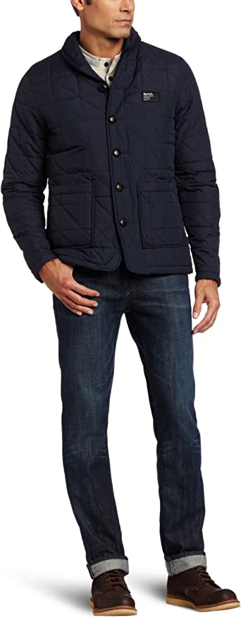 Bench Men's Lekan Quilted Jacket, Total Eclipse, Medium at ...