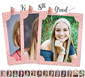 Big Dot of Happiness Rose Gold Grad - 8 x 10 inches K-12 School Photo Holder - DIY Graduation Party Decor - Picturific Display