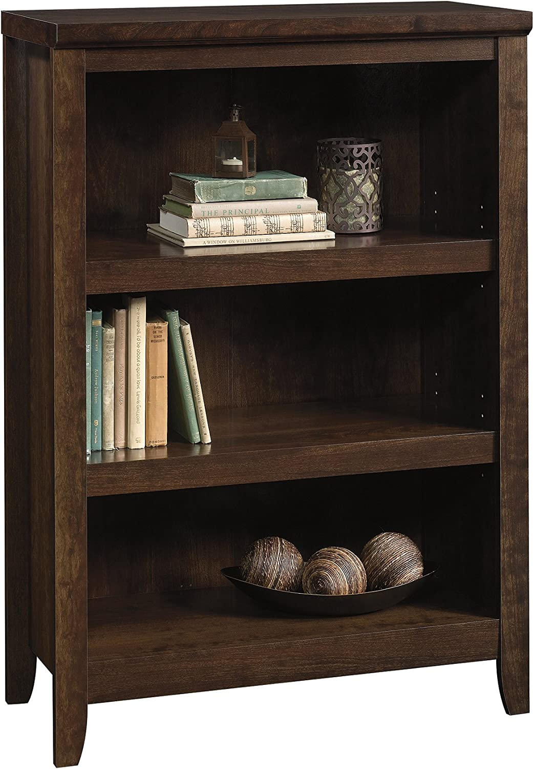 Better Homes & Gardens Parker 3 Shelf Classic Bookcase Estate Toffee Finish New