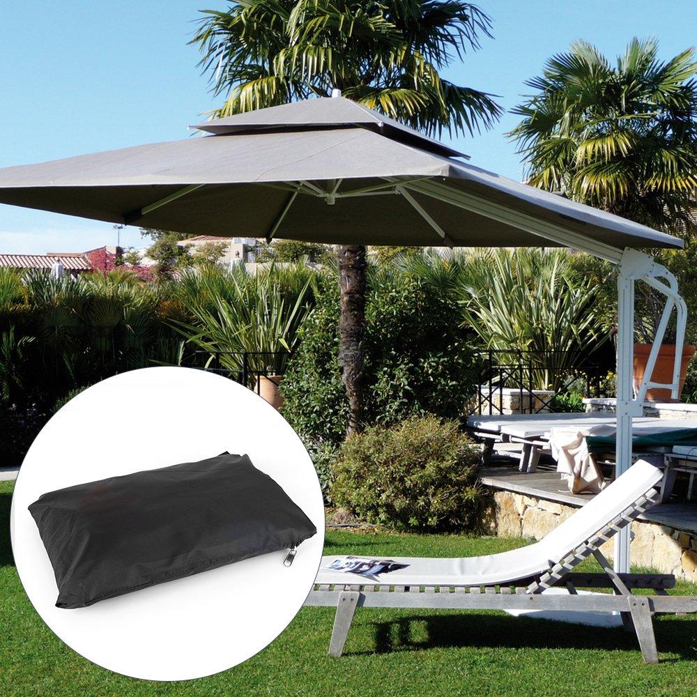 BougeRV 420D Copertura per Ombrellone con la Chiusura Lampo Impermeabile e Tessuto Resistente allAcqua 265cm
