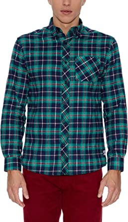 THE INDIAN FACE 15-002-11 Camisa, Multicolor (Cuadros), S ...