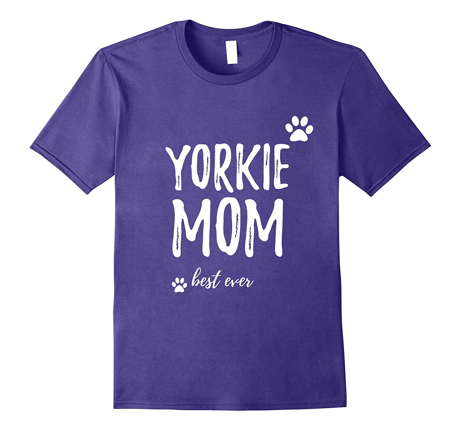 Yorkie Mom T-shirt for Dog Mom-T-Shirt