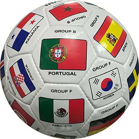 41988f242 Amazon.com   World Cup 2018 Qualifiers Country Flags Soccer Ball Size 5    Sports   Outdoors