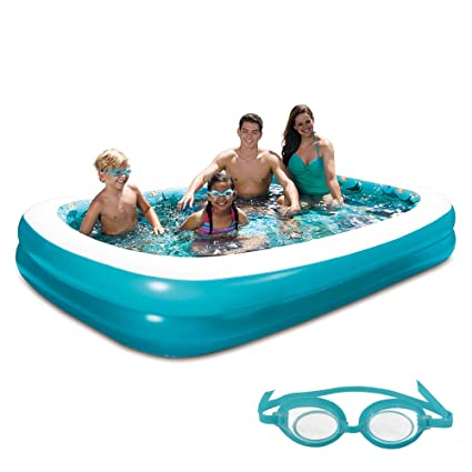 Amazon.com: Piscina hinchable 3d 103-in X 69-in rectangular ...