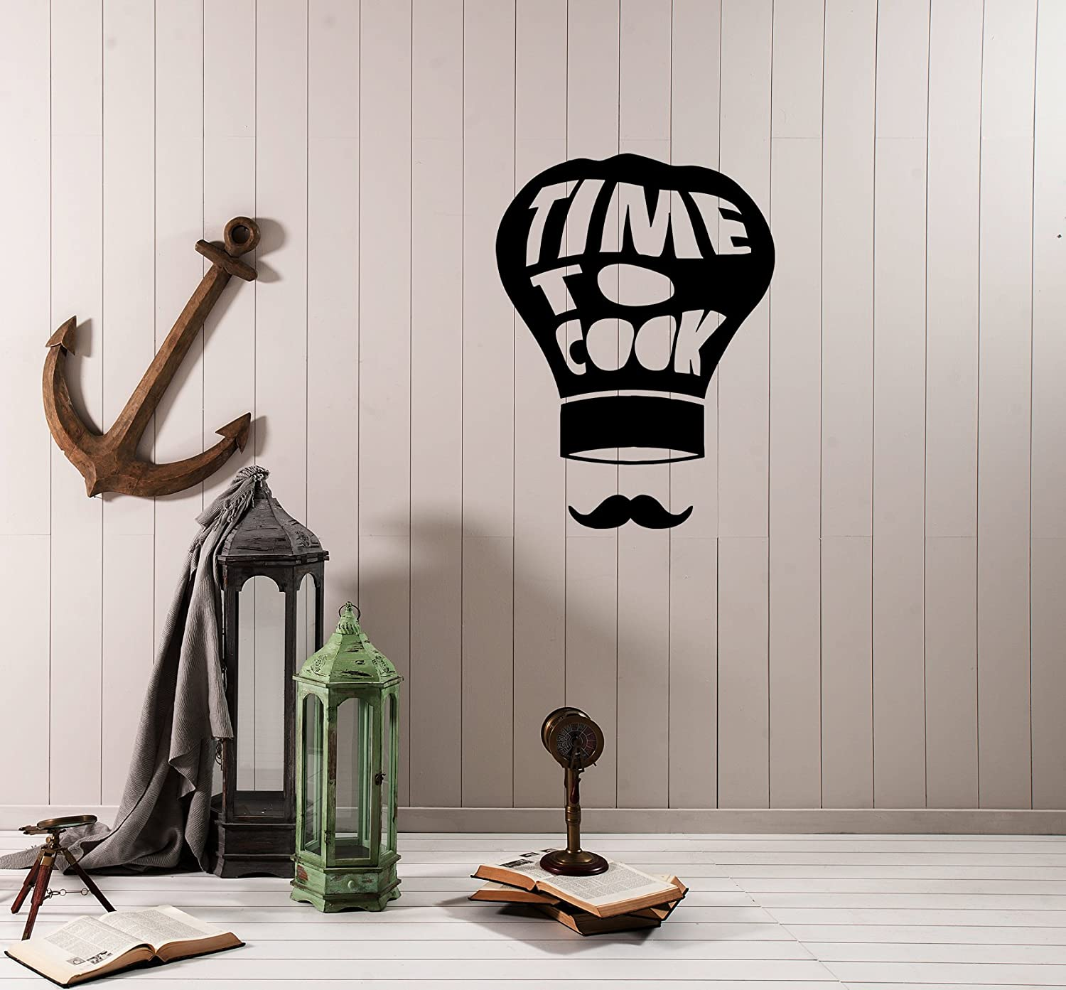 Amazon.com: Wall Decal Kitchen Decor Phrase Words Time to ...