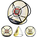 PodiuMax 24'' Pop Up Golf Chipping Net, Indoor/Outdoor Collapsible Golfing Target Net for Accuracy and Swing Practice, Portable