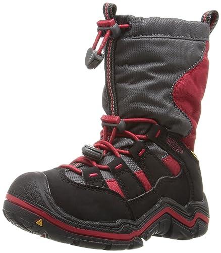 KEEN Kids' Winterport II WP-C Pull-on Boot, Tango Red/