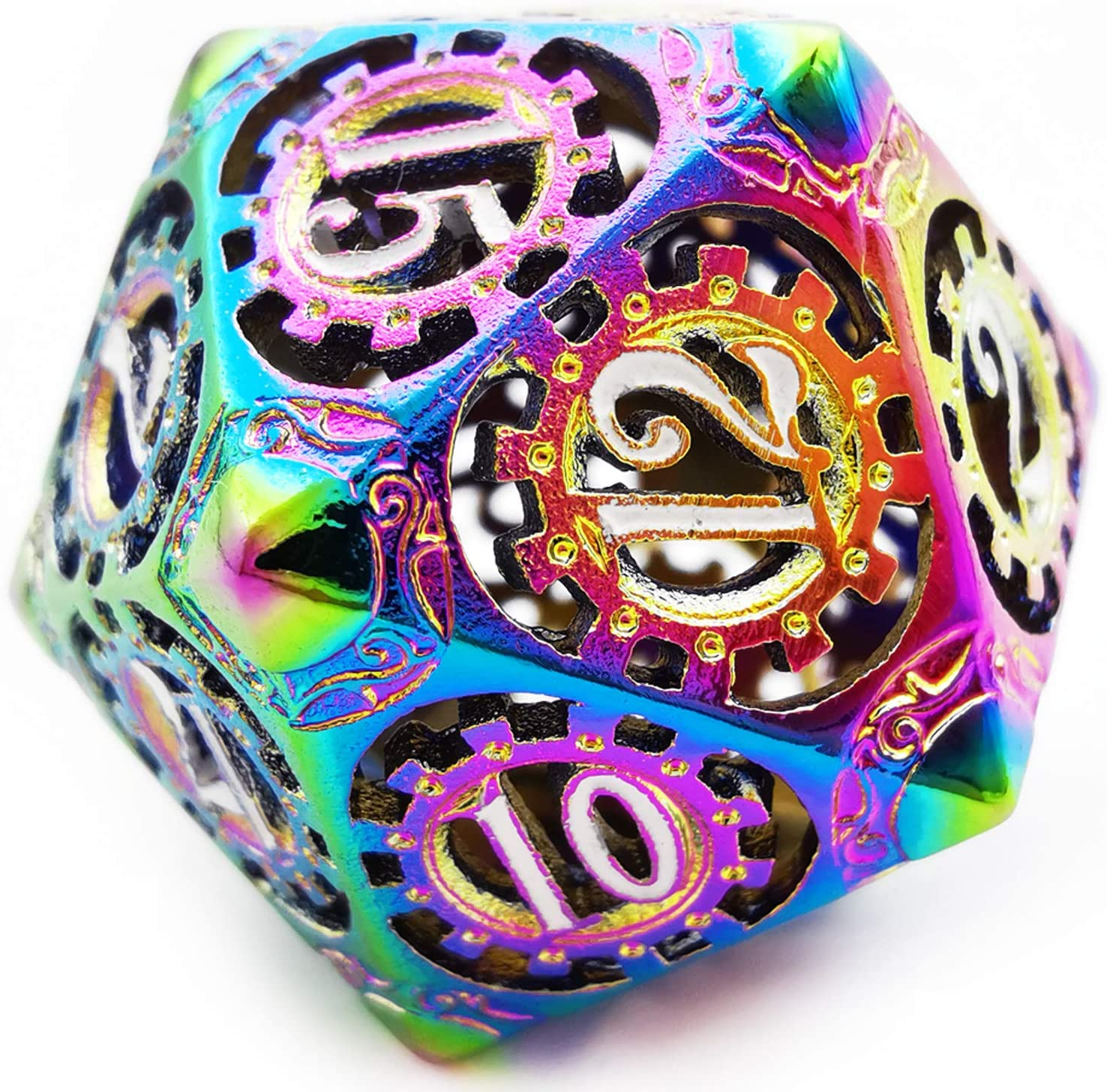 HAOMEJA Hollow Dragons Metal DND Dice Game Set 7 Role Playing Dice D/&D Dice Dungeons and Dragons RPG MTG Table Games Colorful