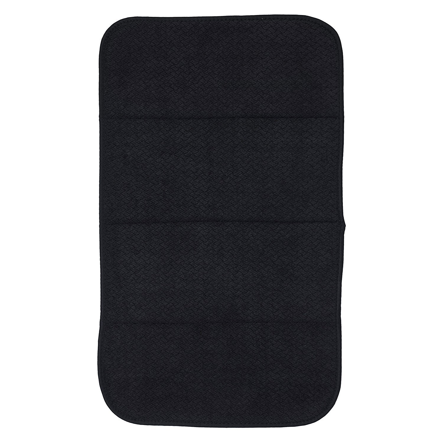 All Clad Textiles Reversible Fast-Drying Mat, 16-Inch x 28-Inch, Black
