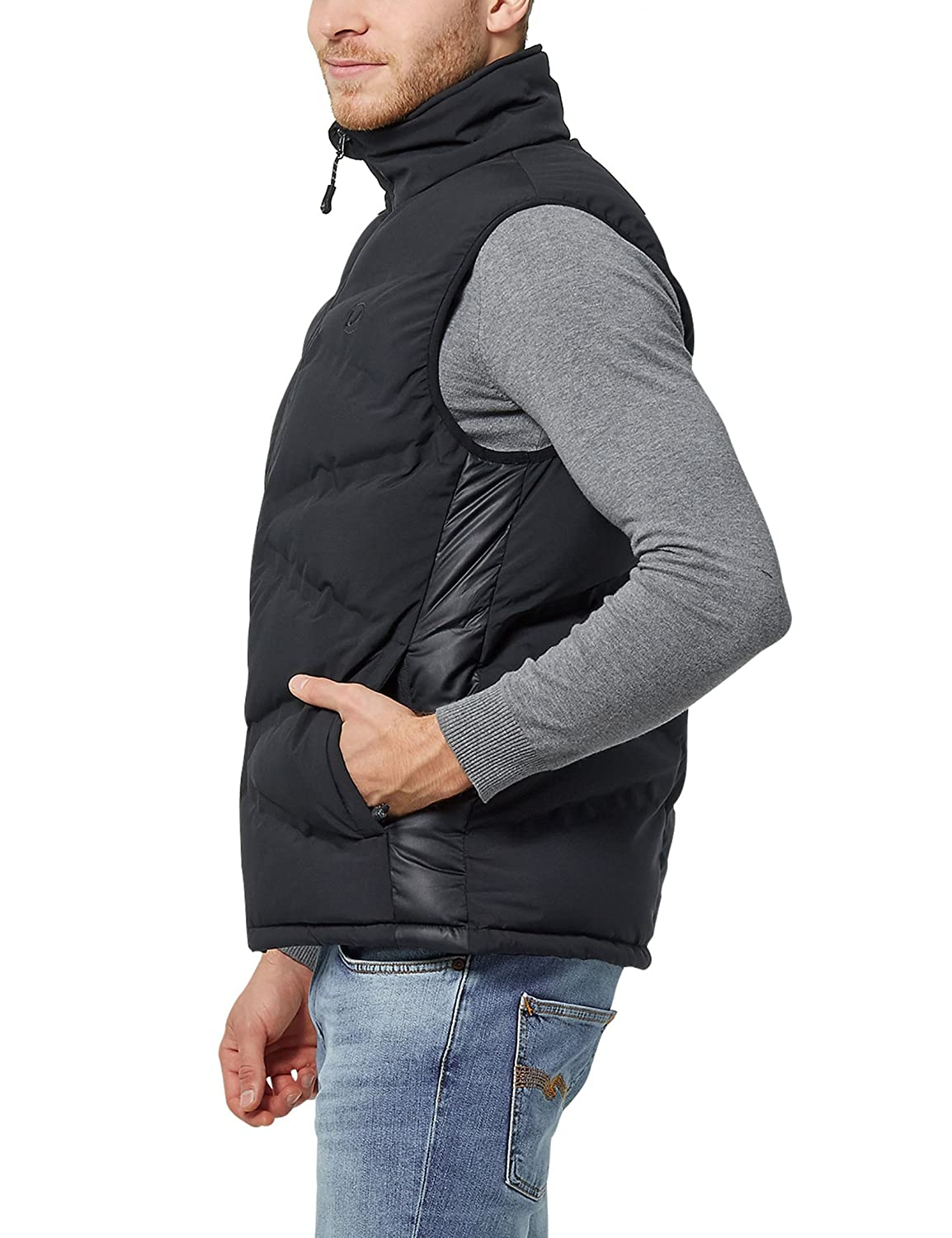 Amazon.com: Ultega Mens Functional Quilted Phil Body Warmer Vest with UF 3.000, Black, Large: Sports & Outdoors