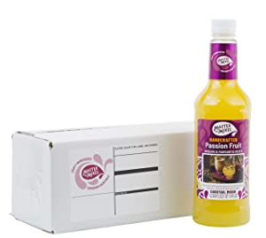 Master of Mixes Passion Fruit Drink Mix, Ready To Use, 1 Liter Bottle (33.8 Fl Oz), Individually Boxed